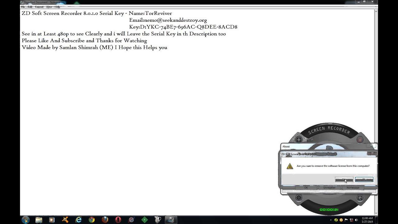 Zd Soft Screen Recorder 8.0.1.0