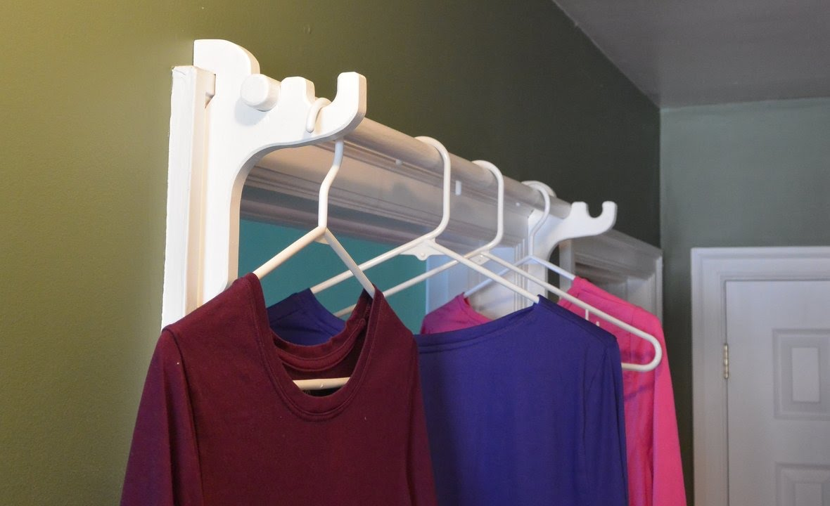 A Bar For Hanging Clothes To Dry In A Door Frame   YouTube
