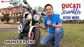 Xe Moto mini giá rẻ Ducati Scrambler Icon Mini 110cc ▶ Đánh giá và Trải nghiệm
