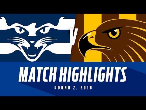 Geelong v Hawthorn - Round 2 2018 - AFL