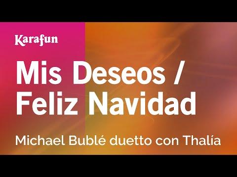 Karaoke Mis Deseos / Feliz Navidad - Michael Bublé *
