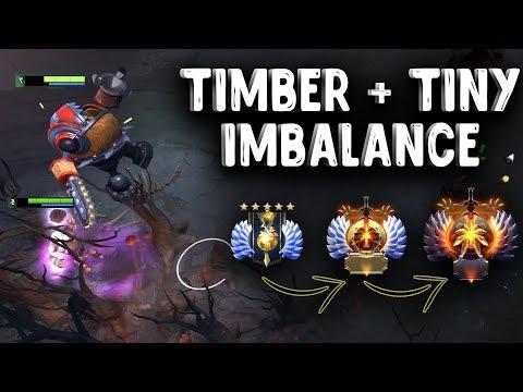 видео: ТИМБЕР + ТИНИ ДОТА 2 - timbersaw + tiny ИМБАСВЯЗКА dota 2