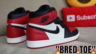 AIR JORDAN 1 BRED TOE FULL DETAILED REVIEW