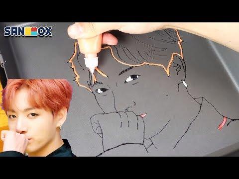 BTS (방탄소년단) 'IDOL' Official Teaser Jungkook Pancake Art