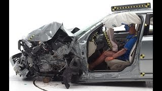 IIHS - 2014 Volvo S80 - small overlap crash test / GOOD EVALUATION /
