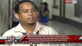 SONA: Mabusising registration sa student orgs kabilang ang mga frat at sorority, isinusulong