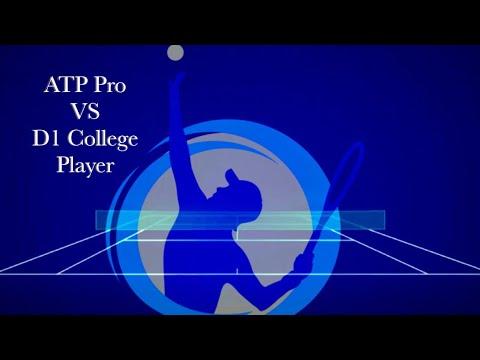 ATP Tour Pro versus D1 College Player:  Tyler Mercier vs Alex Loope Practice Match