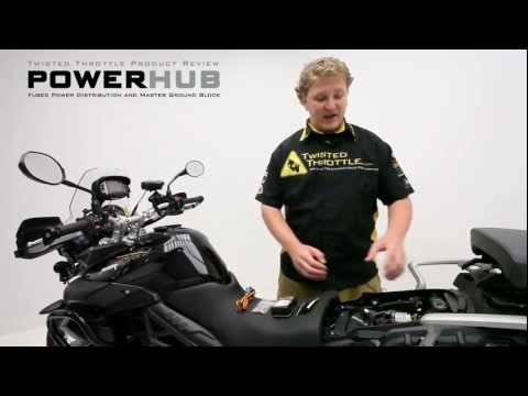Motorcycle Electrical Accessory Power Management: Twisted Throttle PowerHub Fuse  Block - YouTubeYouTube