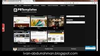 Cara Mengubah Template Blog [ivan-abdurrahman]