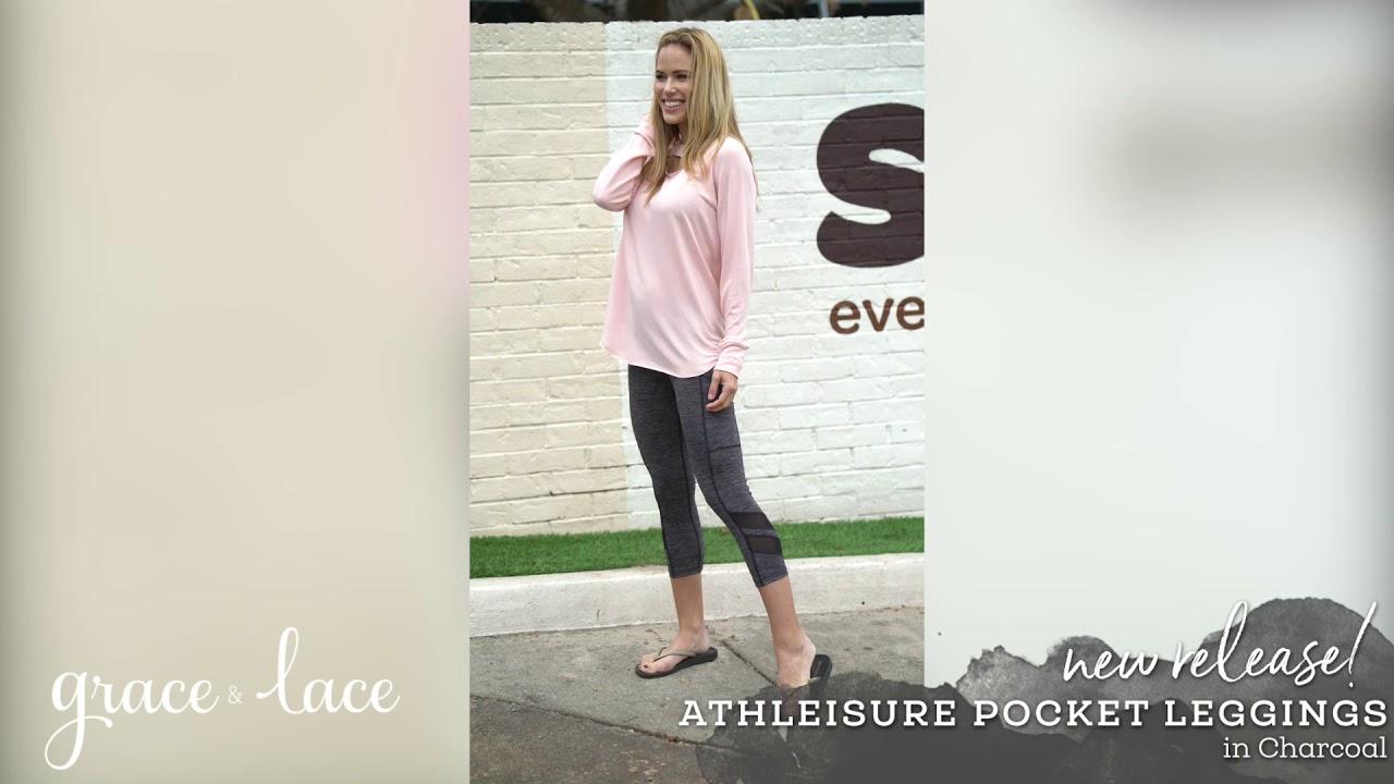 fa73ee6ad23cb Grace & Lace: Athleisure Pocket Leggings - YouTube