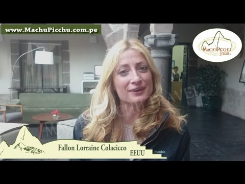 Fallon Lorraine Colacicco American tourist, visited Peru with travel agency Machu Picchu Travel