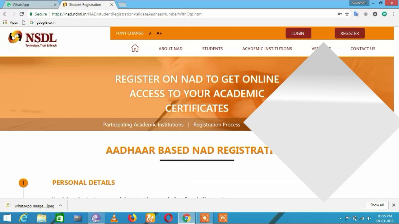 How To Nad Registration For Student