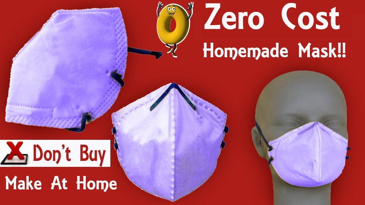 Make Mask yourself home | Make dust Protection Mask using Tissue Bag | Air pollution protection Mask