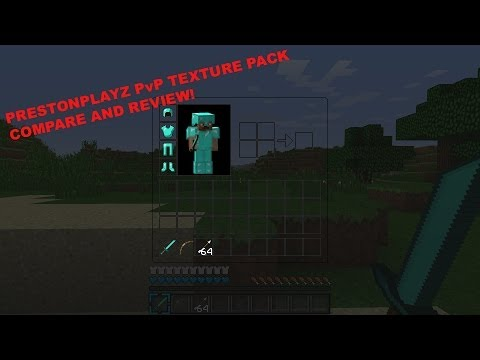 PrestonPlayz PvP Texture Pack Compare and Review! Minecraft PC
