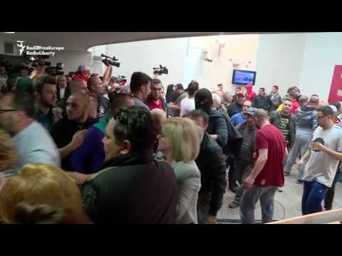Protesters Storm Macedonia Parliament