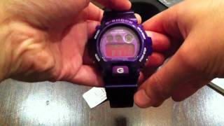 Casio G-Shock Purple Digital Watch Unboxing DW6900CC-6