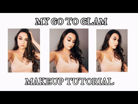 My Go To Glam Makeup tutorial