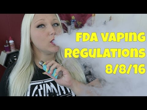 August 8th FDA Vaping Regulations! | TiaVapes