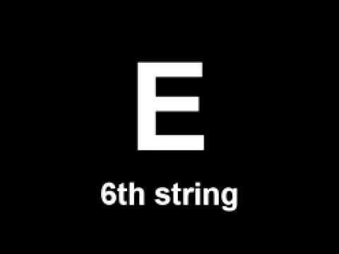 Standart guitar tuning - Guitar tones -  e a d g b e - free online guitar tuner