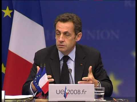 EU will speak with one voice in Washington says Sarkozy