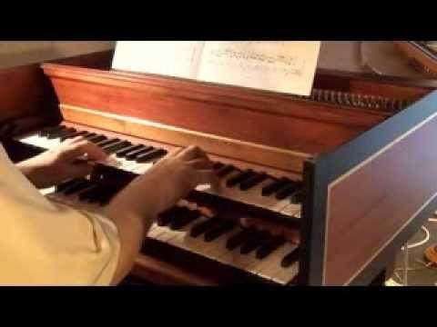 Johann-Christian BACH (1735-1782): Marche, Allegretto (-Trio), Reprise Marche. Clavecin M. Sassmann