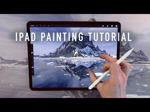 ipad-painting-tutorial---mountain-lakes-landscape-art-in-procreate