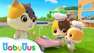 Bayi Kucing menjual Es Krim Enak | Lagu Anak-anak | BabyBus Bahasa Indonesia