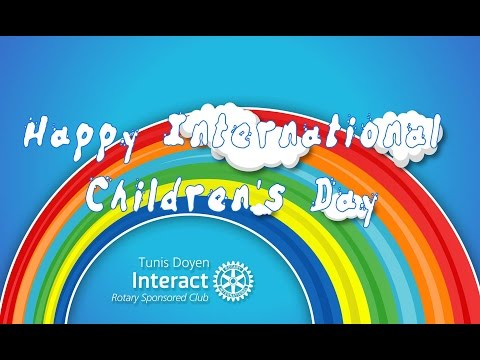 WE CELEBRATE: The International Children's Day!