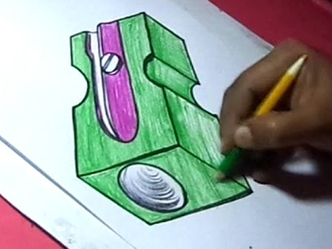 How to Draw Pencil Sharpener Drawing - YouTube