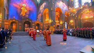 В Главном храме ВС РФ прошел молебен в честь Дня Победы