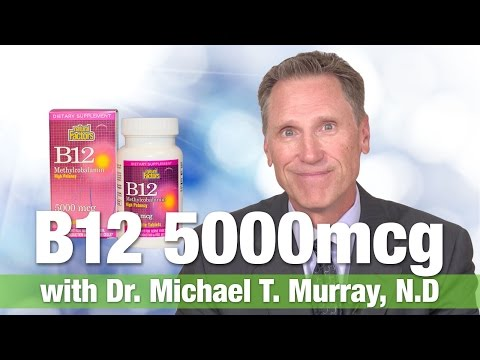 Natural Factors B 12 Methylcobalamin Sublingual 5000mcg with Dr. Michael T. Murray