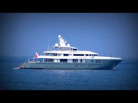 The US$ 80,000,000 Yacht FLYING FOX near ANTIBES