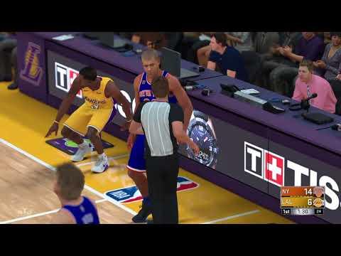 NBA 2K18 My League Gameplay/ Shaq 20pts/ 10reb- Game-Winning Steal