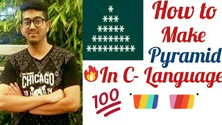 How to make pyramid in c- language