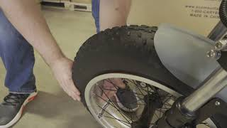 Fixing the Wheel Bead on the Front Tire