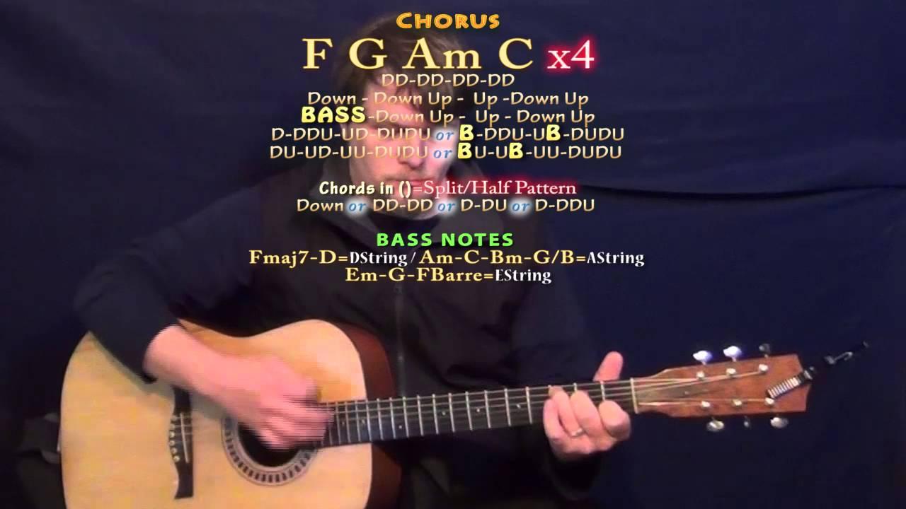 Love In The Dark Adele Guitar Lesson Chord Chart In C Major Youtube