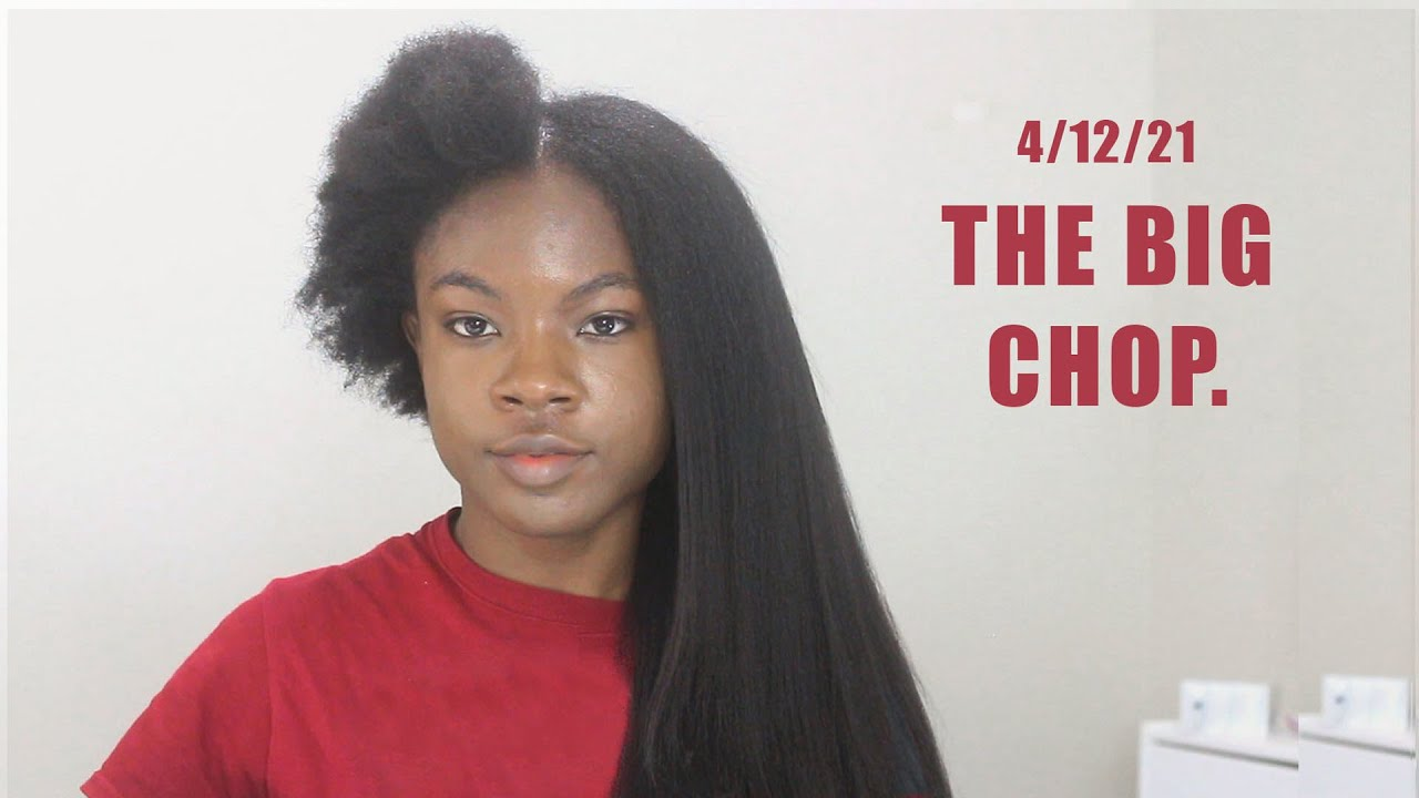 Download Cutting off 22 Inches of Hair. Why I Did It. Big Chop on Waist Length Relaxed Hair.