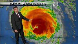 Posible trayectoria  del Huracán Florence