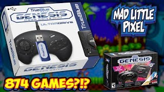 NEW True Blue Mini Plug & Play Hack For Sega Genesis Mini Announced! The Ultradrive!