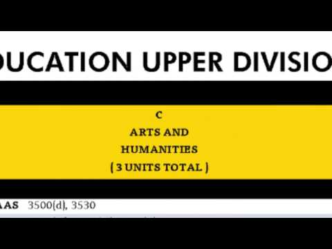 Upper Division General Education