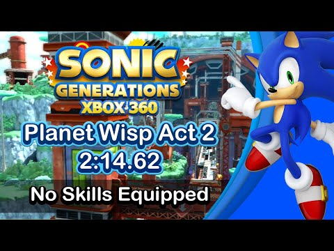 Sonic Generations Planet Wisp Act 2 Speedrun 2:14.62 (Basic run, No skills)