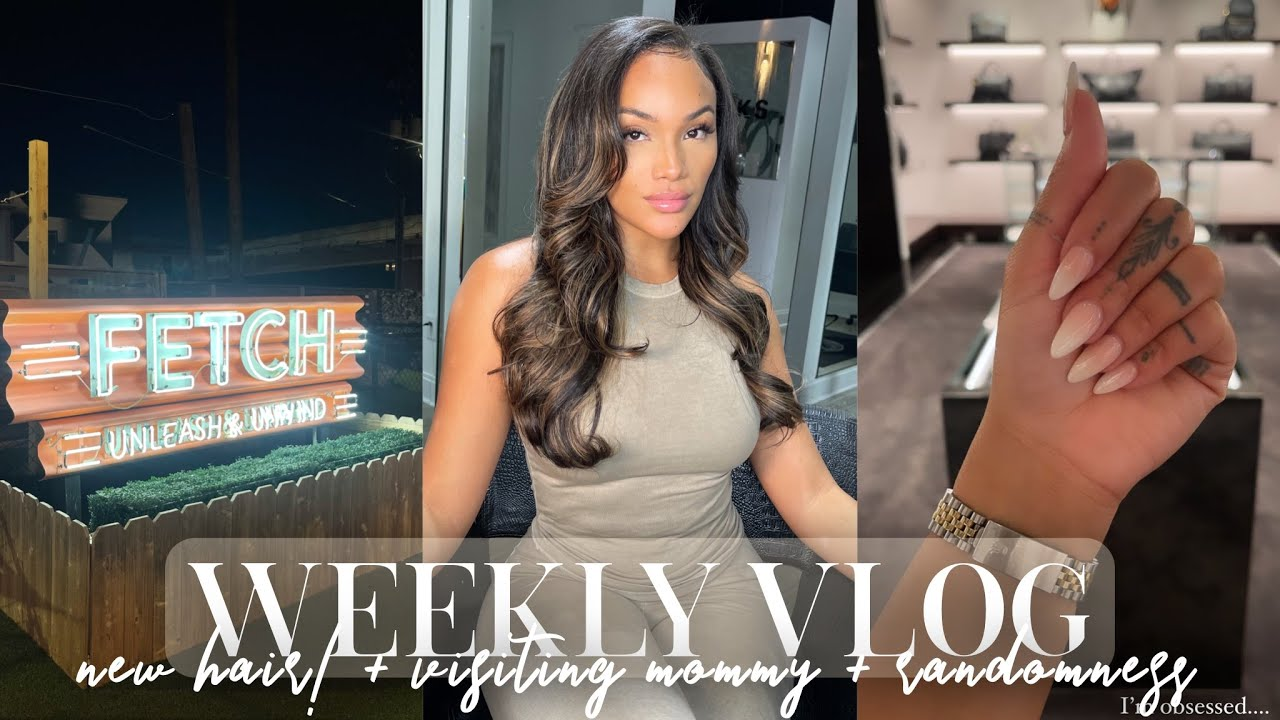 WEEKLY VLOG! NEW HAIR WHO DIS?! HANGING W/ MOMMY + PIERCE SHOP + RANDOM & MORE | ALLYIAHSFACE VLOGS