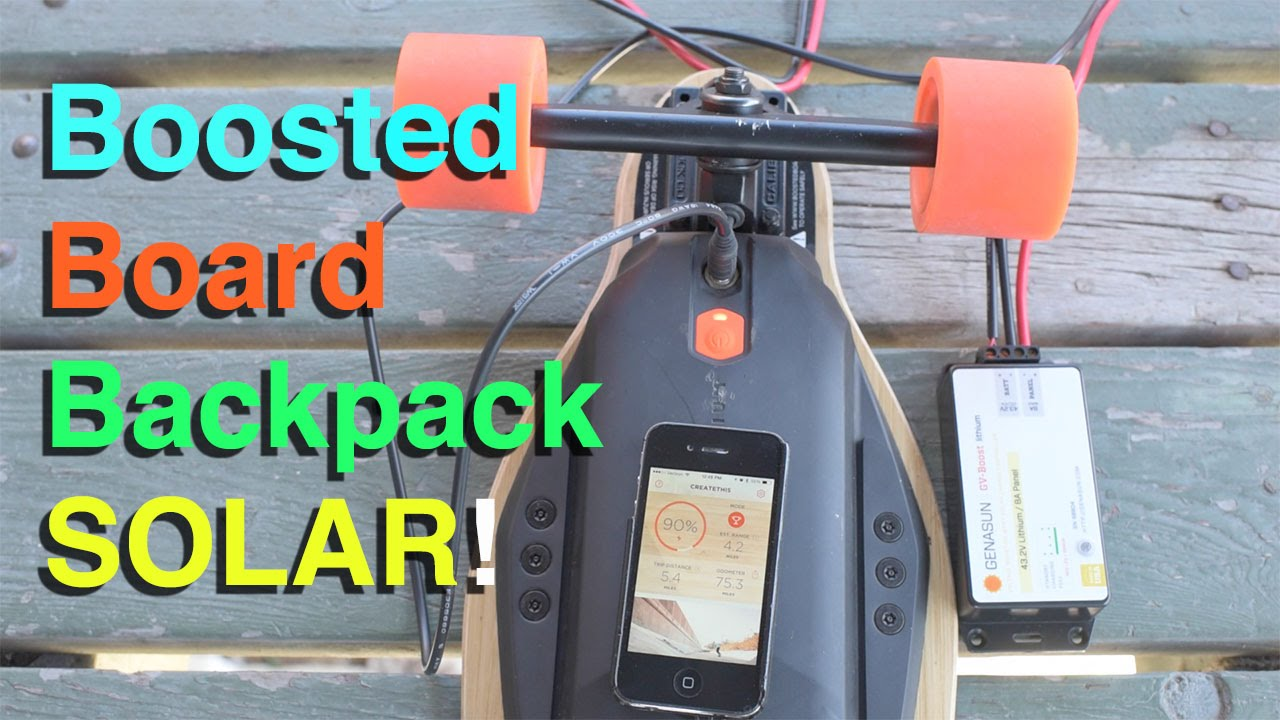 success boosted board backpack solar part 2 youtube