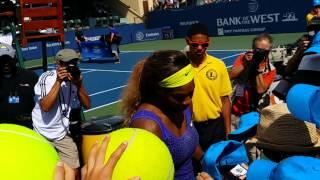 Devin gets Serena's autograph