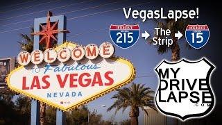 A Drive up the Las Vegas Strip! Time-Lapse