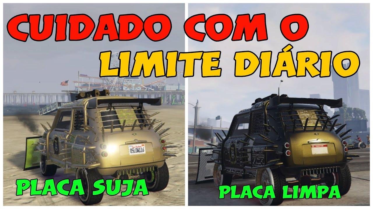 ✅ GTA V LIMITE DIÁRIO CUIDADO🔴 PLACA LIMPA E PLACA SUJA COMO SABER  PS4 ✅