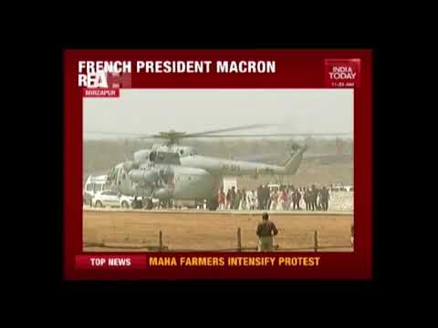 PM Modi, CM Yogi Receive French Prez Macron In Varanasi