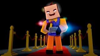 THE NEIGHBOR IS FAMOUS? - MINECRAFT HELLO NEIGHBOR (Minecraft mini game)