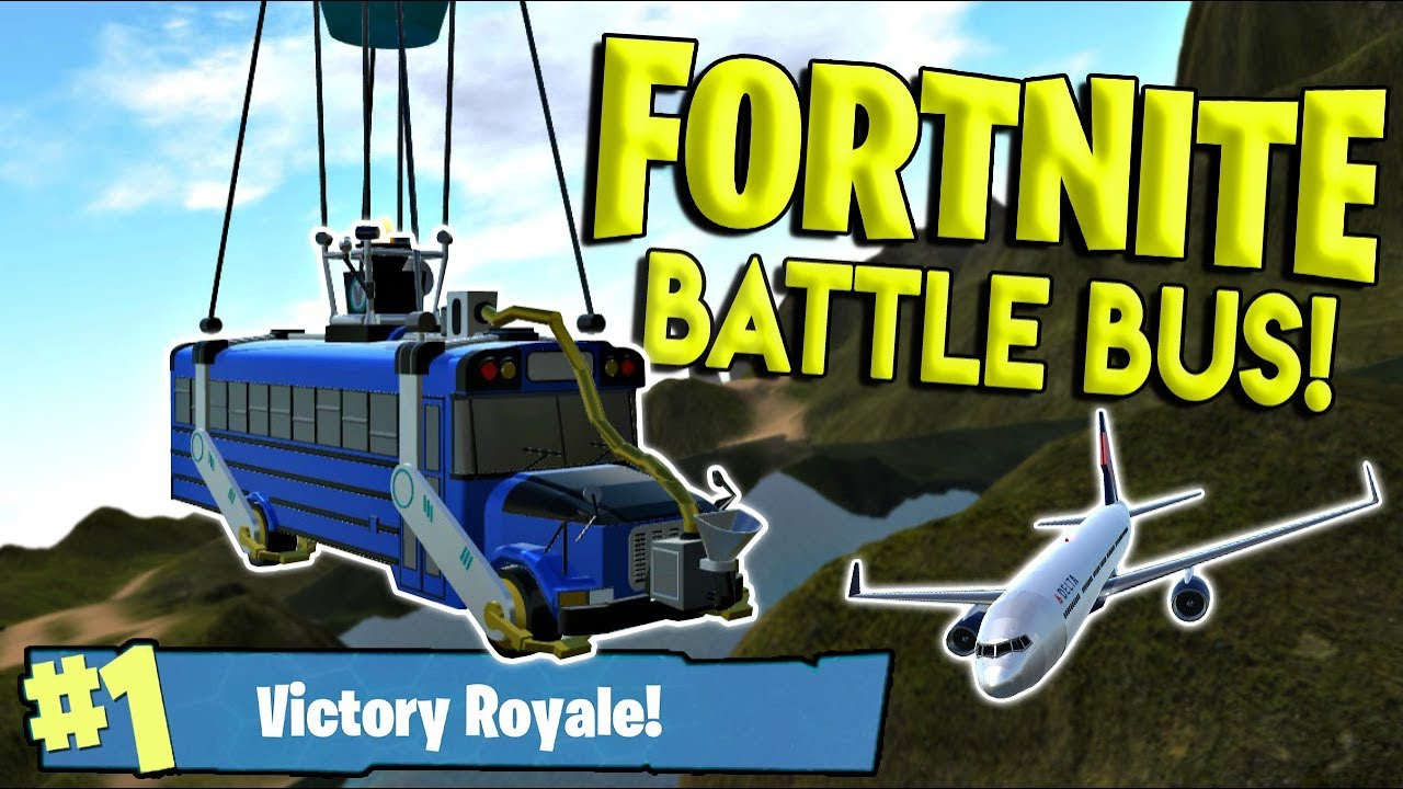 Best Fortnite Battle Bus Realistic  Plane Simple Planes Creations Gameplay Ep