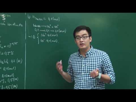 Bài tập Sự điện li – Lớp 11 – Thầy Phạm Thanh Tùng